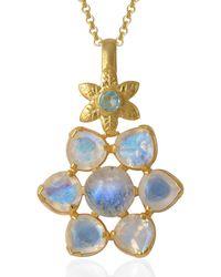Emma Chapman Jewels - Elara Moonstone Aquamarine Pendant - Lyst