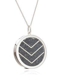 Rachel Jackson London - Large Protection Chevron Amulet In Silver - Lyst