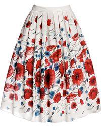 Rumour London - Poppy Floral Print Midi Skirt - Lyst