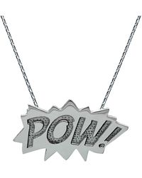 Edge Only - Pow Pendant Large Long In Silver - Lyst