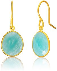 Auree - Panarea Gold Vermeil & Amazonite Earrings - Lyst
