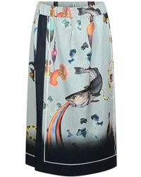 Klements - Scarf Skirt In Rainbow Trout Print - Lyst