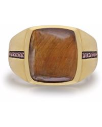 LMJ - Chatoyant Yellow Tiger Eye Stone Ring - Lyst