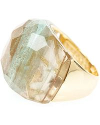Ona Chan Jewelry - Round Cocktail Ring Gold - Lyst
