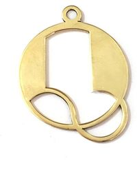 Alice Eden - Gold Deco Initial Q Pendant Necklace - Lyst