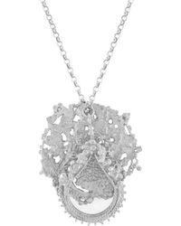Annabelle Lucilla Jewellery - Atlas Disk & Sikhara Charm Pendant Silver - Lyst
