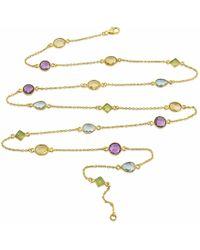 Auree - Nellore Multi Gemstone & Gold Vermeil Long Necklace - Lyst