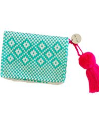 Soi 55 Lifestyle - Cheche Mexican Travel Pouch Turquoise - Lyst