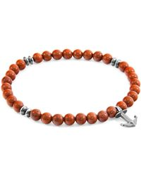 Anchor & Crew - Red Jasper Starboard Natural Stone Bracelet - Lyst