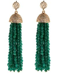 Cosanuova - Sterling Silver Jade Tassel Earrings In Rose - Lyst