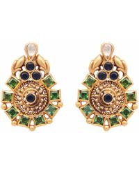 Carousel Jewels - Intricate Circular Dyed Crystal Earrings - Lyst