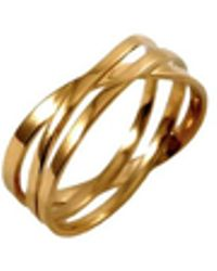 MARIE JUNE Jewelry Coil Gold Ring