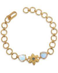 Emma Chapman Jewels - Elara Moonstone Aquamarine Bracelet - Lyst