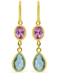 Vintouch Italy - Ravello Multicolour Gold Earrings - Lyst