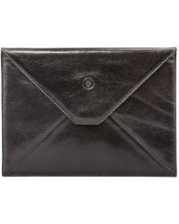 Maxwell Scott Bags - Luxury Black Leather Ipad Air Case For Men Ettore - Lyst