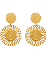 Carousel Jewels | Matte Antique Coin Vermeil Earrings | Lyst