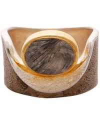Carousel Jewels - Rutile Quartz Gold And Silver Pocket Ring - Lyst