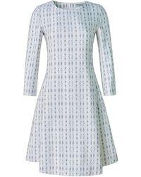 Xllullan - Aria Metallic Italian Jacquard Cocktail Dress - Lyst