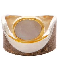 Carousel Jewels - Moonstone Gold And Silver Pocket Ring - Lyst