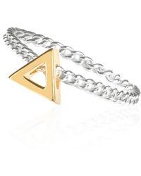 Sally Lane Jewellery - Journey Triangle Ring - Lyst