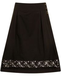 Sophie Cameron Davies - Black Cotton Skirt - Lyst