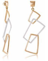 Neola - Geo Gold & Sterling Silver Earrings - Lyst