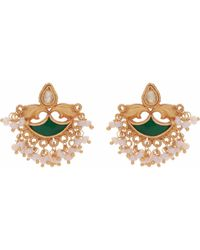 Carousel Jewels - Dyed Crystal & Mother Of Pearl Earrings - Lyst
