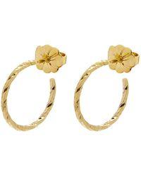 Myia Bonner - Gold Mini Diamond Hoop Earrings - Lyst