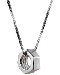 Edge Only Hex Nut Pendant Large Long