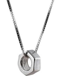 Edge Only - Spike Mesh Necklace - Lyst