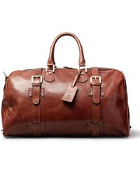 Maxwell Scott Bags - Luxury Italian Leather Medium Travel Bag Flero M Chestnut Tan - Lyst