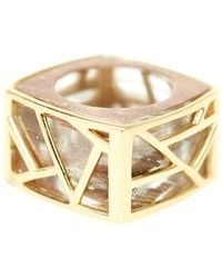Ona Chan Jewelry - Square Cocktail Ring Gold - Lyst