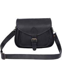 MAHI - Classic Saddle Bag In Black Leather - Lyst
