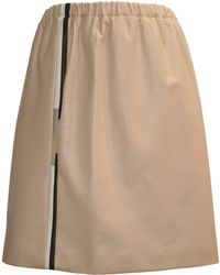 Claire Andrew - Nude Leather Sport Luxe Skirt - Lyst
