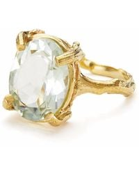 Chupi - Beauty In The Wild Ring Prasiolite & Gold - Lyst