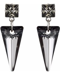 Nadia Minkoff - Crystal Shard Earring Silver Night - Lyst