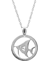 Anchor & Crew - Angel Fish Disc Paradise Silver Necklace Pendant - Lyst