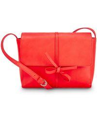 NINE TO FIVE - Saddle Bag Fox Lipstick Red - Lyst