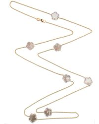 Cosanuova   Mother Of Pearl Clover Necklace   Lyst
