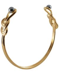 MARIE JUNE Jewelry - Figure 8 Knot Gold Bangle - Lyst