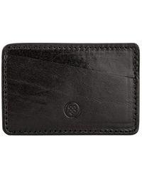 Maxwell Scott Bags - Luxury Italian Leather Card Holder Night Black - Lyst
