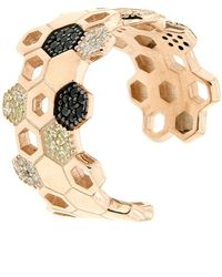 Cosanuova - Rose Gold Plated Sterling Silver Honeycomb Bee Ring - Lyst