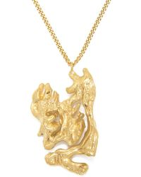 Loveness Lee - Chinese Zodiac Rat Horoscope Gold Pendant Necklace - Lyst
