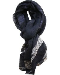 lords of harlech - Scribble Camo Scarf In Black - Lyst