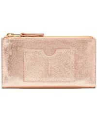 Thacker NYC - Nico Double Zip Wallet In Rose Gold - Lyst
