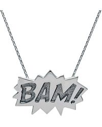 Edge Only | Bam Pendant Large Long In Silver | Lyst