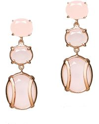 Alexandra Alberta - Lexington Rose Quartz Earrings - Lyst