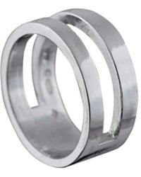 Edge Only - Parallel Ring Silver - Lyst