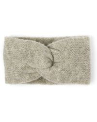 Alma Knitwear - Kirke Alpaca Silk Earwarmer Grey - Lyst