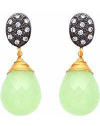 Carousel Jewels - Crystal & Chalcedony Drop Earrings - Lyst